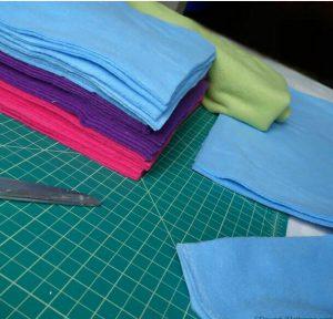 تولید پارچه حوله ای رنگی